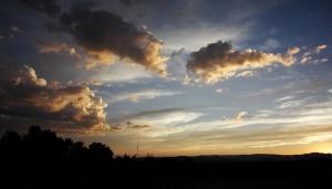 サンタフェ郊外・夕陽